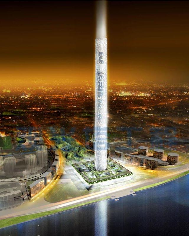 华声户外 游记·影像 广州市新中轴线电视塔效果图