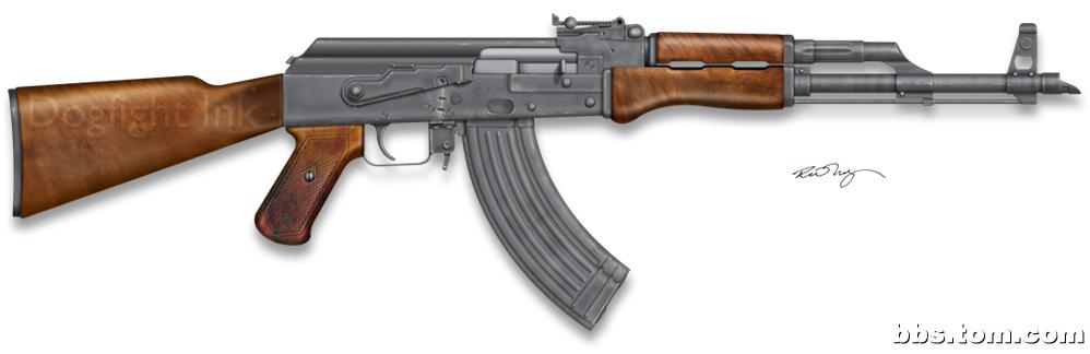 手绘枪支图 - 军事贴图