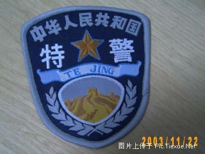 警察臂章t恤衫_