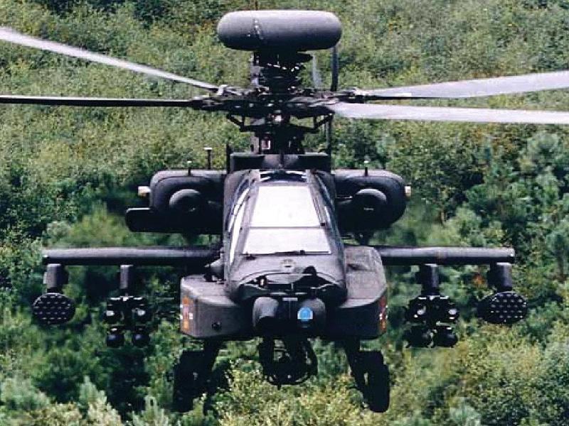 阿帕奇ah-64d战斗直升机