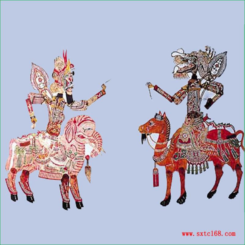 陕西皮影人物造型的轮廓整体概括