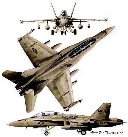 F/A-18D三视图