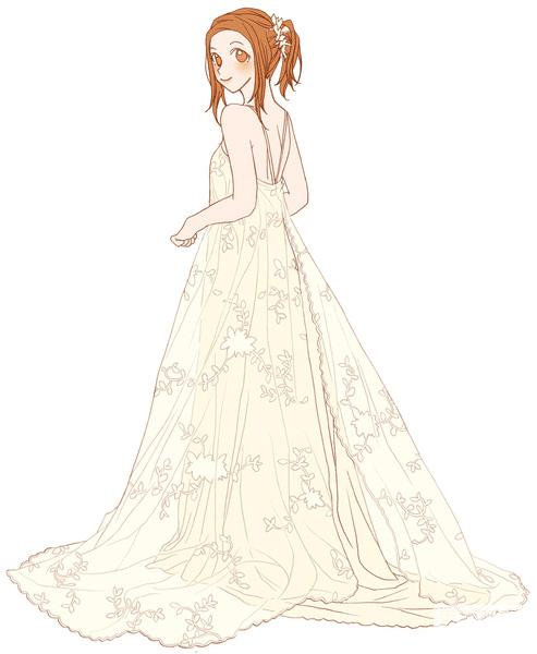 手绘婚纱图