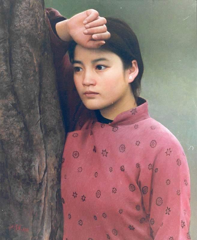 [心灵的故乡]思春--沈汉武油画(2) - 石墨閣画廊 - 石墨閣画廊--雨濃的博客