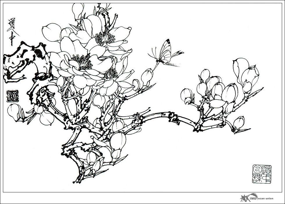 《王道中画集》,《百花谱 》,《白描草虫集》,《牡丹工笔画艺谈》.