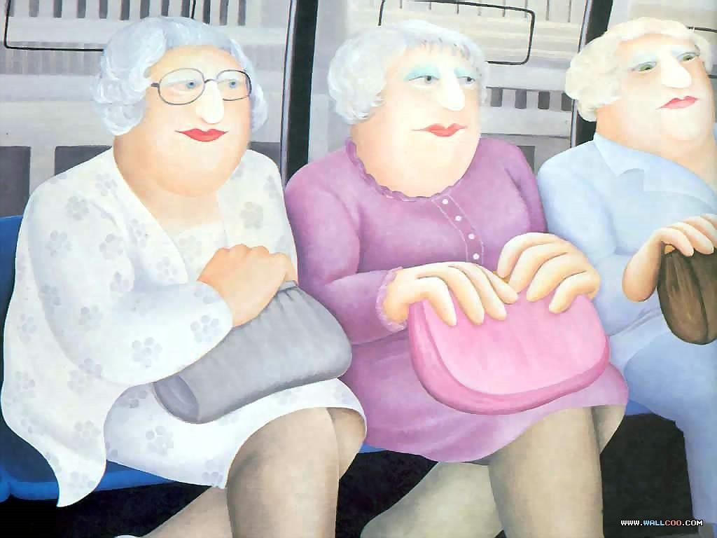 时尚胖女手绘图片