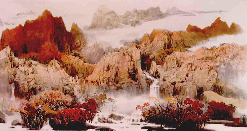 美术家陈学良大师的作品 山水画图片