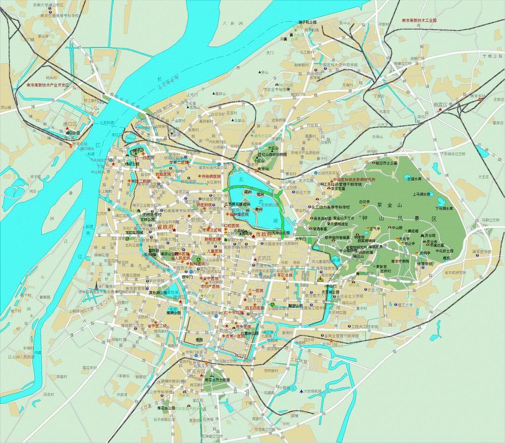 天津 手绘地图 石头人